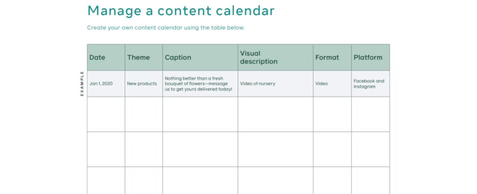Facebook gibt Tipps für die Content-Planung
