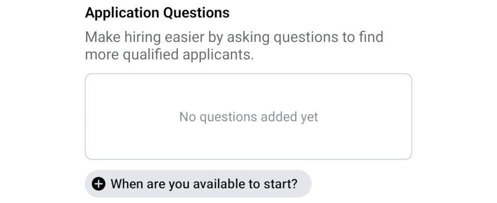 Einfacher bewerben und einstellen: Facebook testet neues Feature