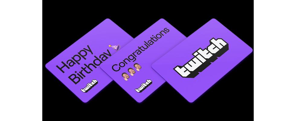 Twitch verkauft nun Gift Cards für die Plattform