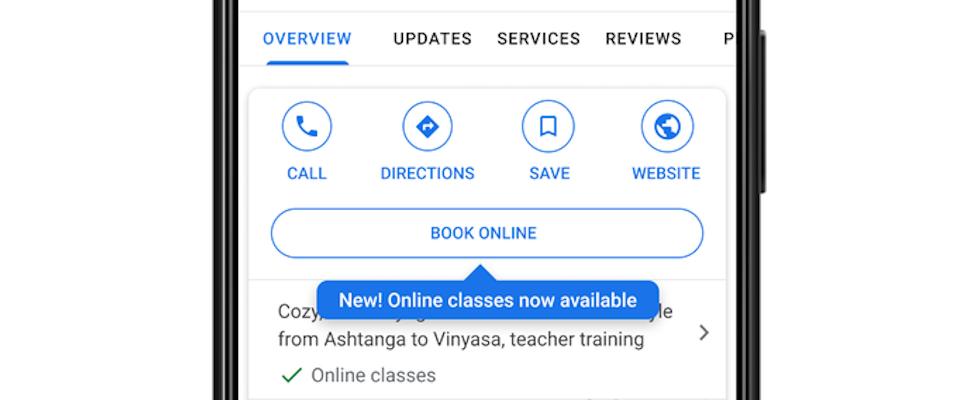 Unternehmen können jetzt Online-Only-Angebote bei Google My Business integrieren