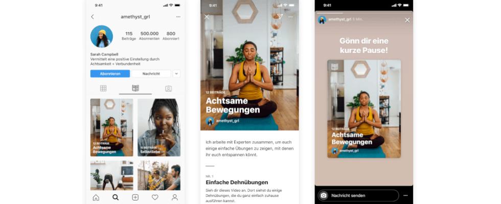 Neue Profiloption bei Instagram: Guides sammelt Posts an einem Ort