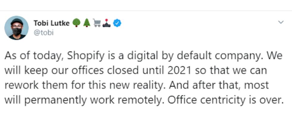 Kurz erwähnt: Beispiel Shopify – wird Arbeiten im Büro obsolet?
