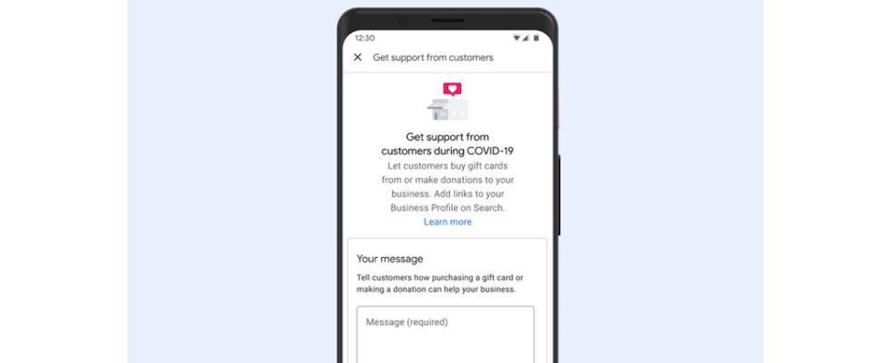 Google My Business: Unternehmen können jetzt Spendenaufrufe und Gutscheine verlinken
