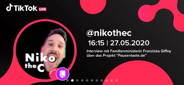 TikTok Livestream mit NikotheC und Dr. Franziska Giffey
