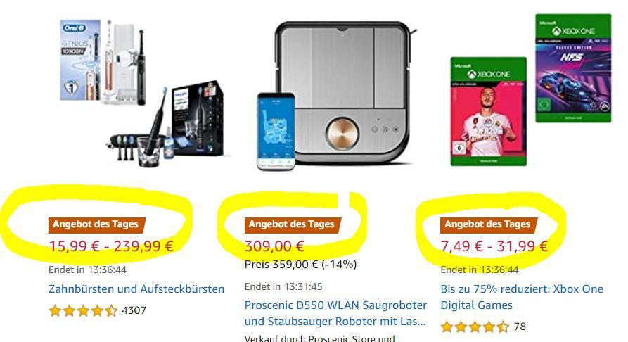Angebot des Tages bei Amazon