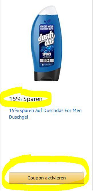 Coupon auf Amazon
