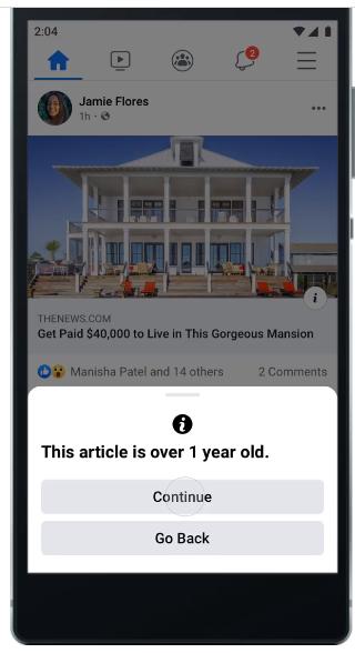 Die User können entscheiden, ob sie ältere Artikel teilen oder nicht