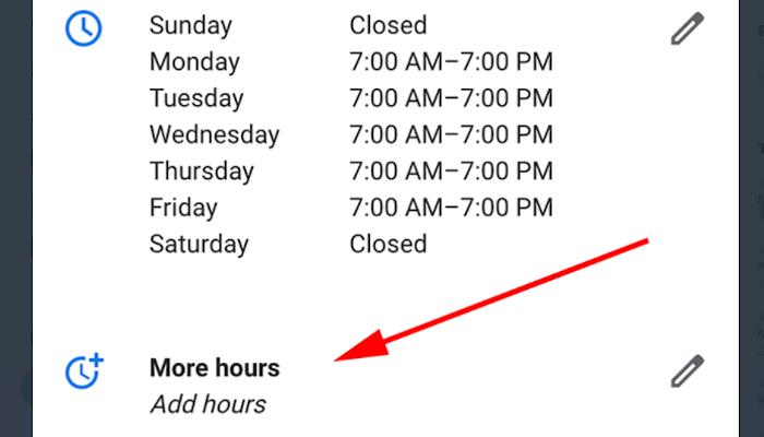 Erweiterte Öffnungszeiten bei GMB