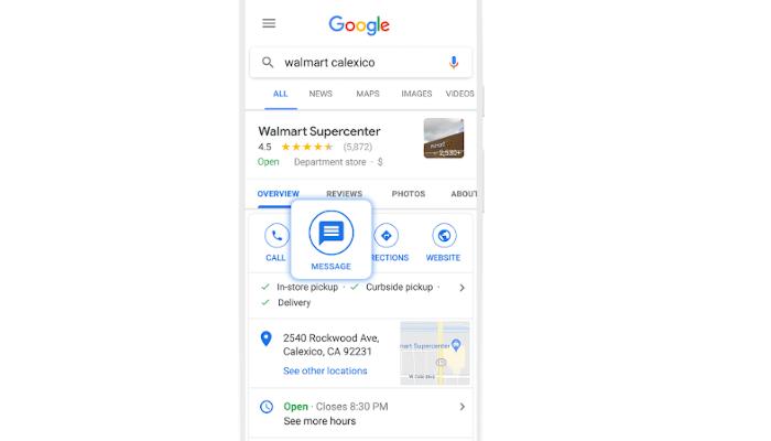 Google erweitert Business Messages via Maps und Search für alle Unternehmen