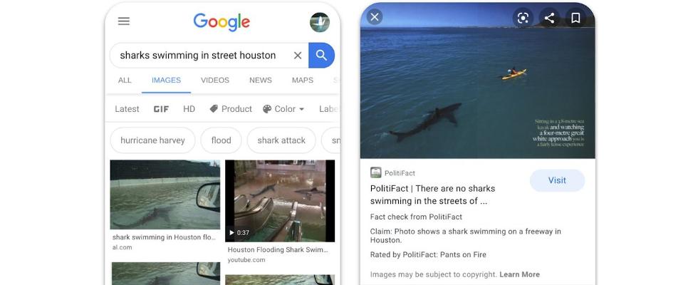 Google bringt Factchecking zur Bildersuche