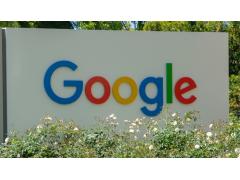 Google Sign zwischen Blumen