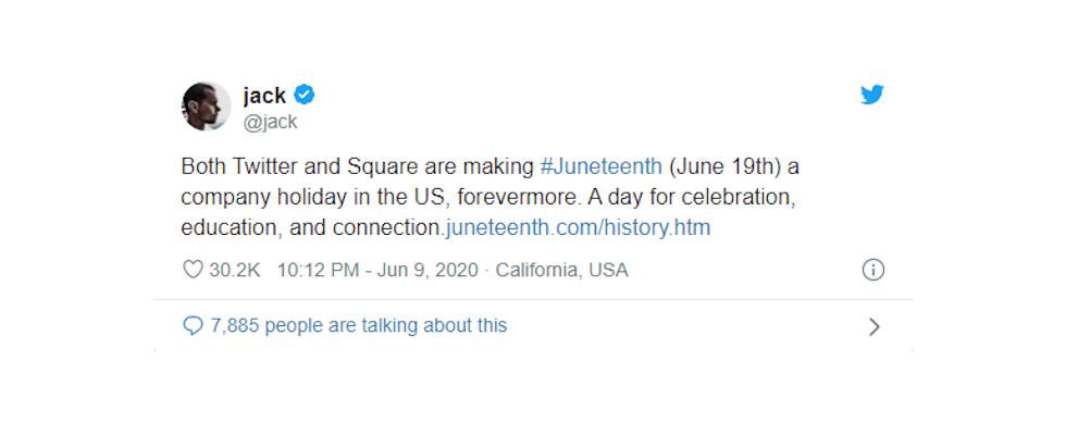 Neuer Feiertag für Twitter-Mitarbeitende: Jack Dorsey erklärt Juneteenth zum Festtag