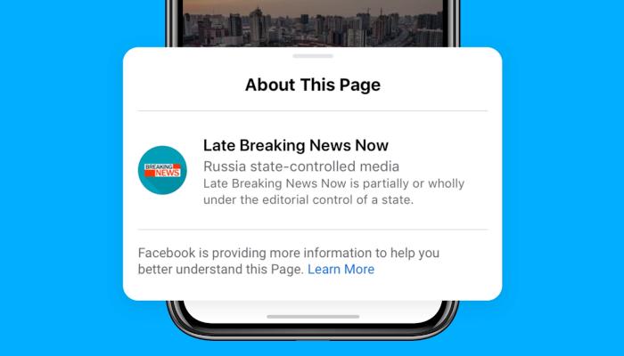 Label für staatlich kontrollierte Medien bei Facebook