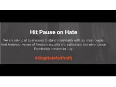 Screenshot der Webiste Stop Hate for Profit