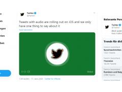 Tweet per Voice bei Twitter