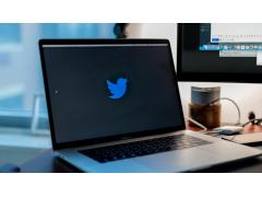 Twitter auf dem Bildschirm