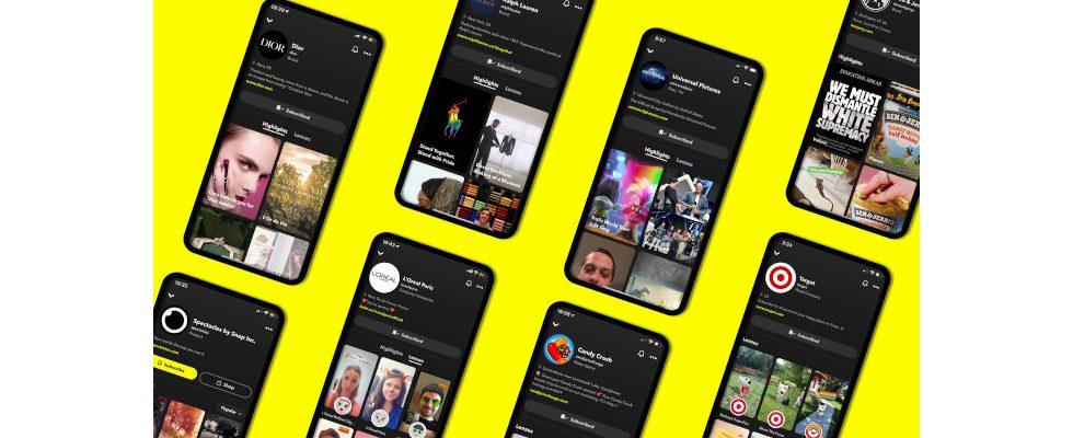 Highlights, AR Lenses und Shops: Snapchat führt Brand-Profile ein