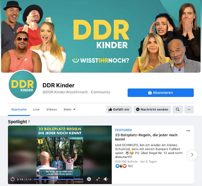 Die Facebook-Seite DDR Kinder mit Bolzplatzregeln, die jeder noch kennt