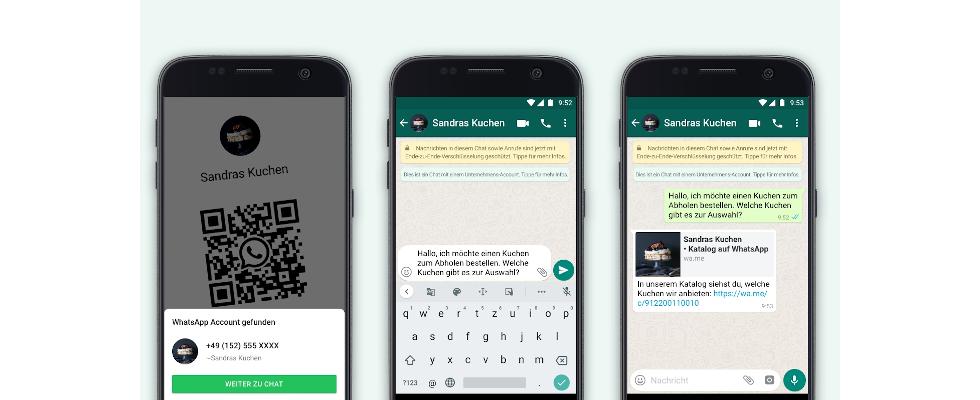 WhatsApps neue Business Features: Produkt-Links teilen und Chats per QR Code starten