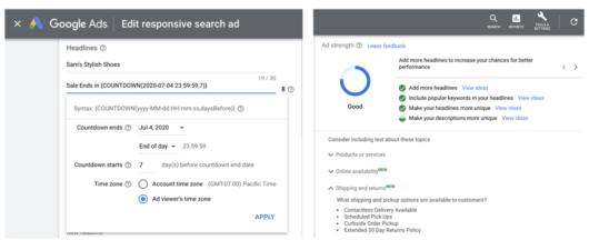 Responsive Search Ads mit neuen Vorschlägen anpassen