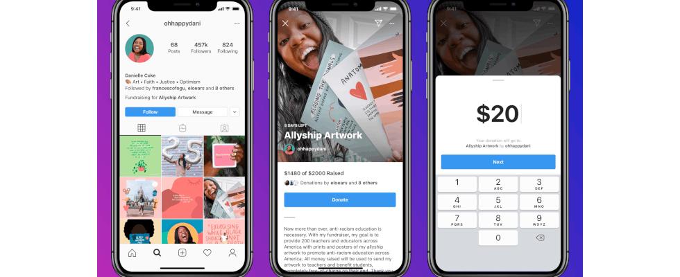 Instagram: Erstelle deinen persönlichen Fundraiser