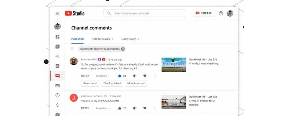 Neues für YouTube Studio: Google launcht SmartReply