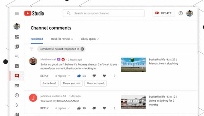 Neues Feature fürs YouTube Studio: SmartReply   OnlineMarketing.de