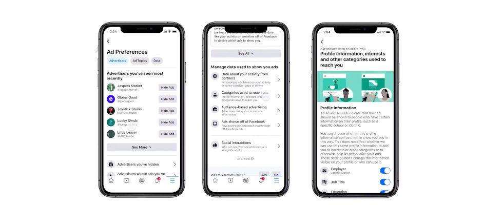 Mehr Kontrolle für User: Facebook verpasst dem Ad Preferences Hub ein Update