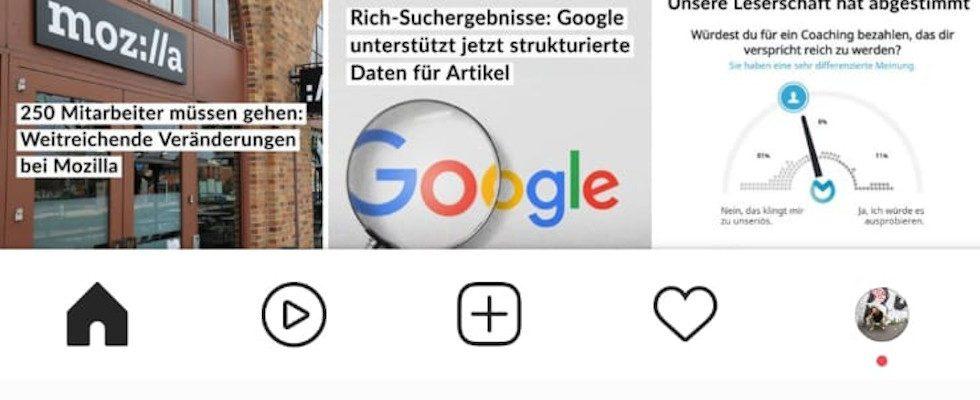 Instagram testet Reels Button in der Menüleiste
