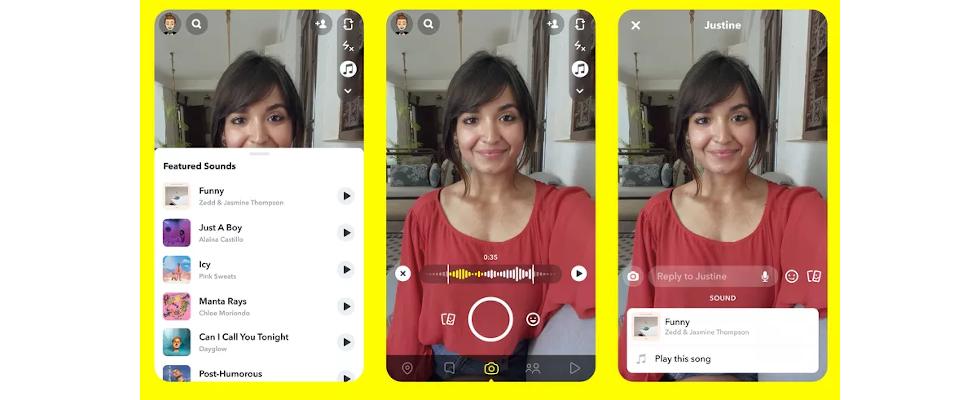 Wie bei TikTok: Snapchat ermöglicht Musik für Posts dank Deals mit großen Labels