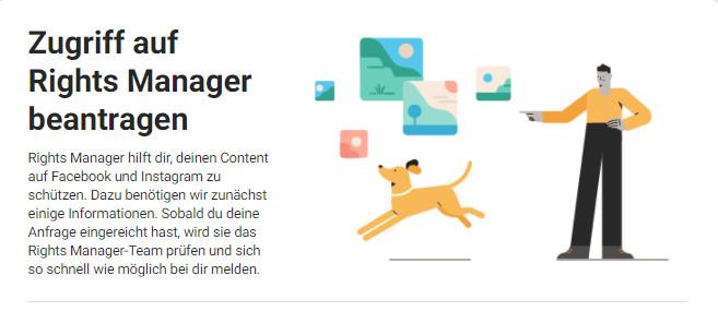 Facebook Rights Manager Copyright eintragen