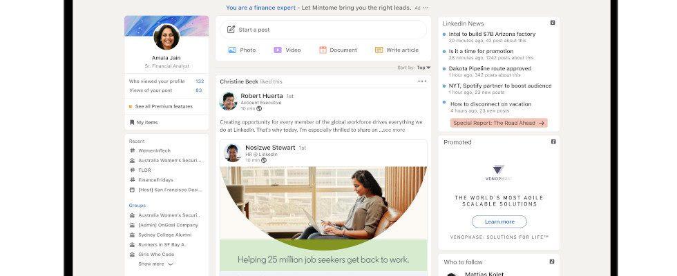 Stories für alle und ein neuer Look: LinkedIn rollt umfassendes Update aus