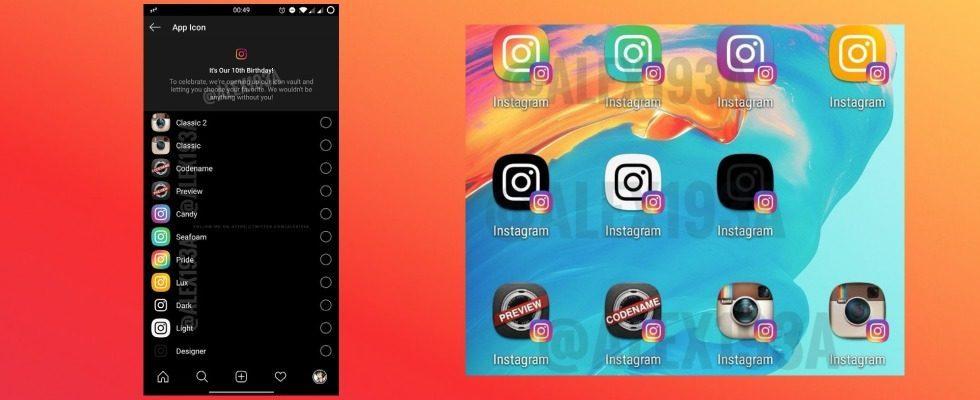 Instagram: Können User bald zwischen verschiedenen Logos wählen?