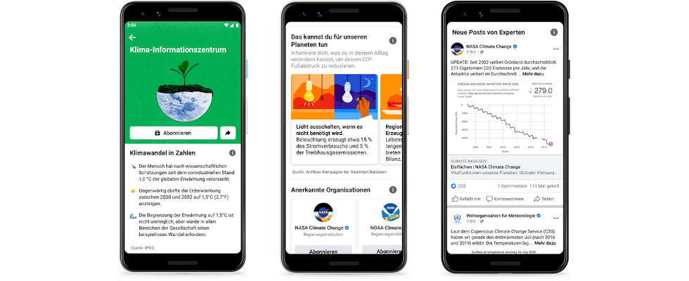 Klimaschutz: Google und Facebook wollen klimaneutral werden