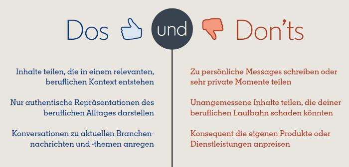Dos und Dont's Stories-Funktionen bei LinkedIn