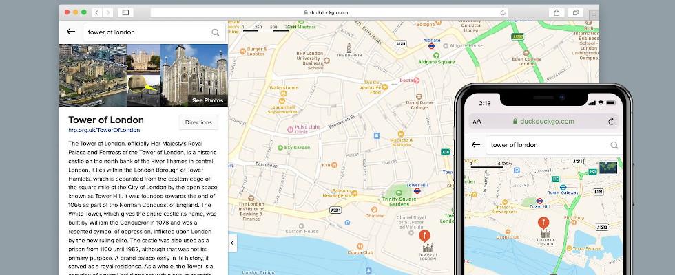 Anonym ans Ziel: DuckDuckGo rollt neues Maps Feature aus