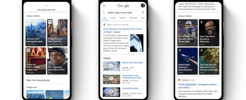 Google bringt Web Stories Carousel zu Discover