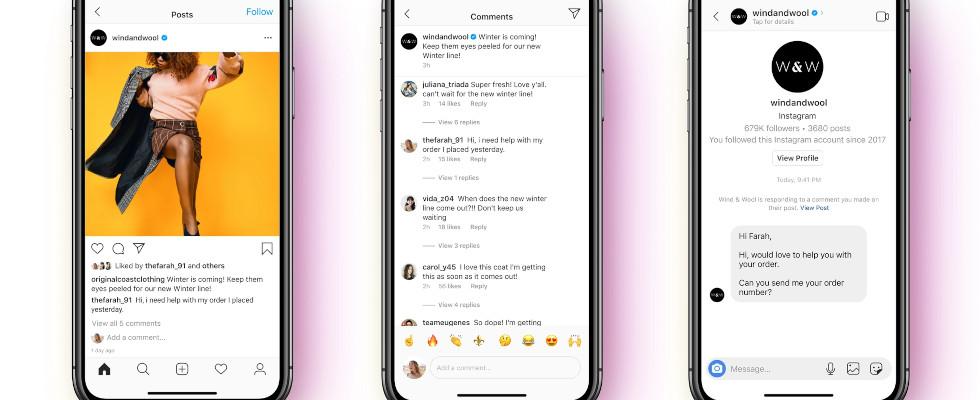 Facebook bringt Messenger API Support für Instagram Direct