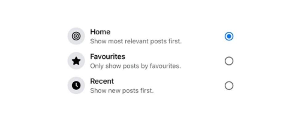 Update für den Facebook Feed – drei Filter sortieren Posts unterschiedlich