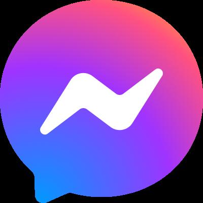 Der neue Look des Facebook Messenger Logos.