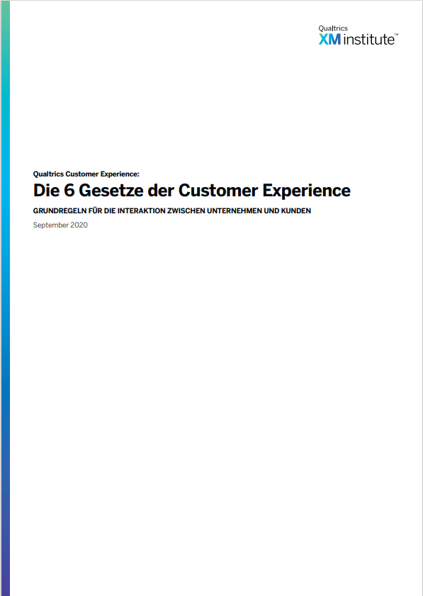 Die 6 Gesetze der Customer Experience