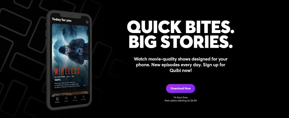 Nach Milliardeninvestment: Video-Service Quibi wird eingestellt