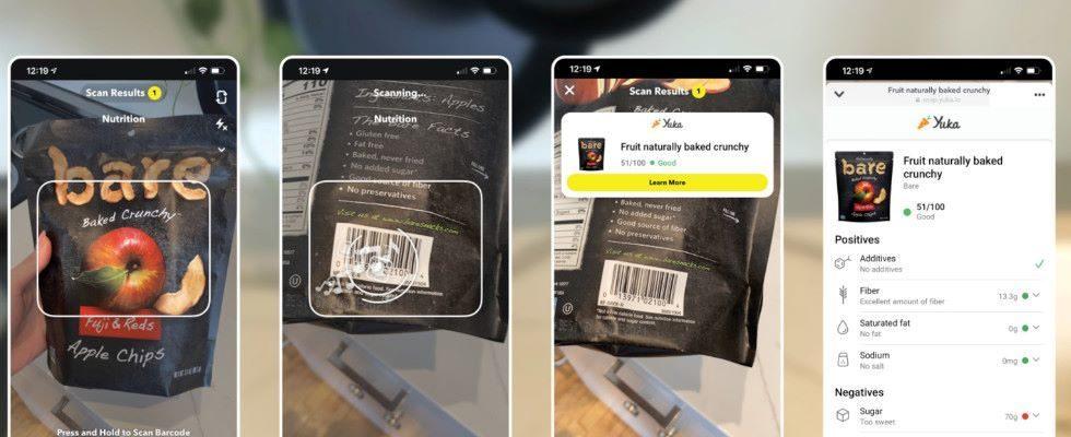 Neue Scanner in der App: Snapchat ermöglicht Wein- und Lebensmittel-Check