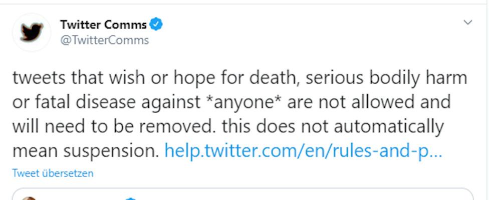 Facebook und Twitter wollen Posts entfernen, die Trump den Tod wünschen