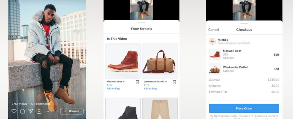 Instagram Shopping kommt in Reels und IGTV