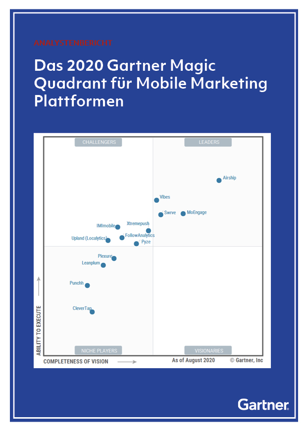 Das 2020 Gartner Magic Quadrant für Mobile Marketing Plattformen
