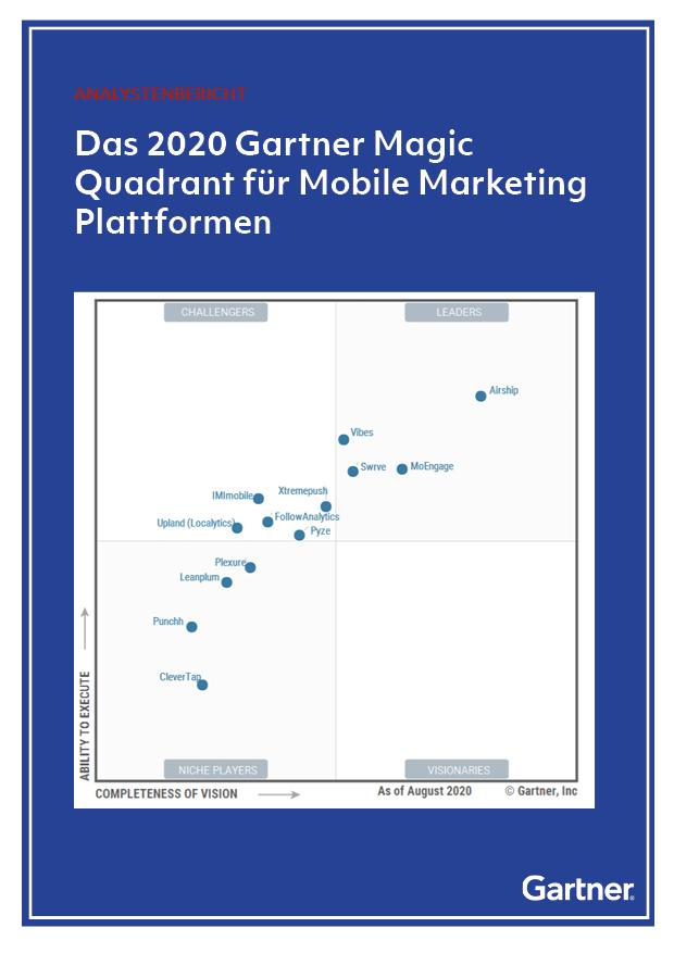 Das 2020 Gartner Magic Quadrant für Mobile Marketing Plattformen