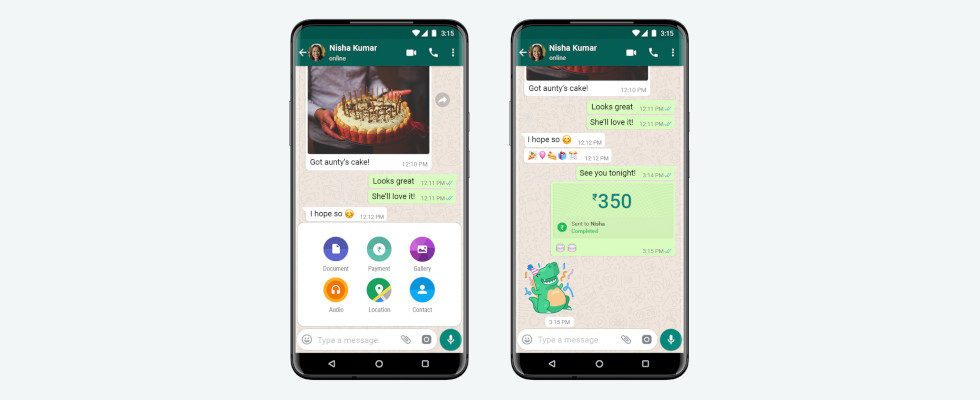Bezahlen per Messenger: WhatsApp Payment in Indien gelauncht