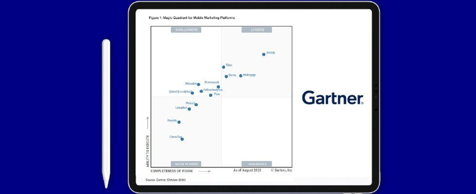 Whitepaper: Airship als Leader im 2020 Gartner Magic Quadrant für Mobile-Marketing-Plattformen
