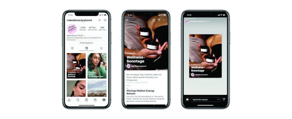 Neues Display Feature bei Instagram: Jetzt mit  Guides thematische Content-Kollektionen erstellen